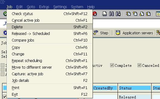 schedule job in sap
