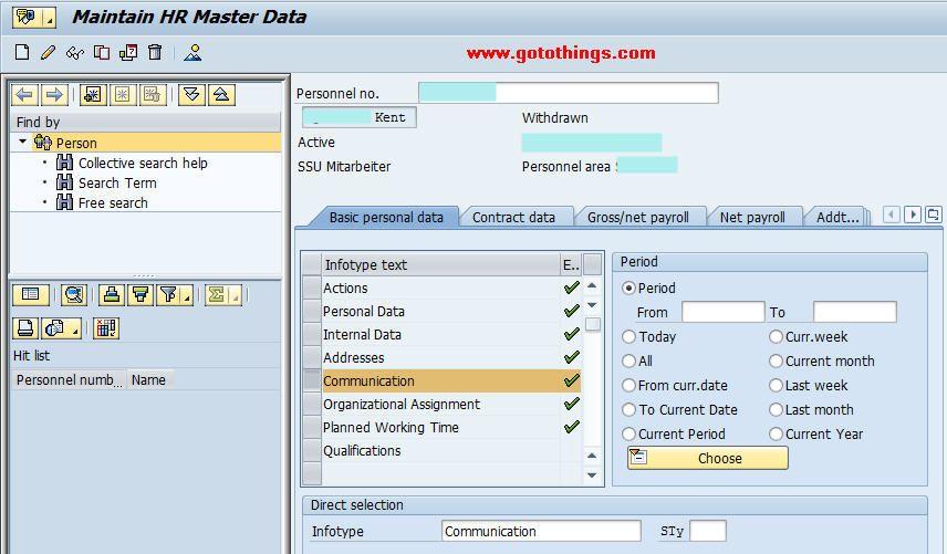 Infotype 0105 In SAP-HR