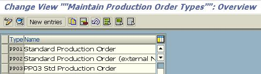 SAP PP - Configure a New Production Order Type