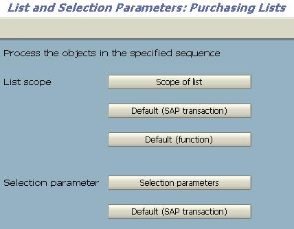 SAP MM - Purchase Order List Configuration